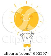 Poster, Art Print Of Kid Boy Sunshine Illustration