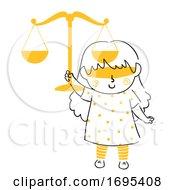 Kid Girl Justice Symbol Illustration