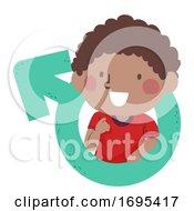 Kid Toddler Boy Black Male Symbol Illustration