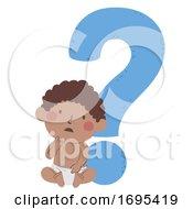 Kid Toddler Boy Black Question Mark Illustration by BNP Design Studio