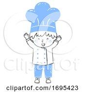 Kid Boy Chef Happy Illustration