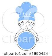 Kid Boy Chef Hold Pot Illustration