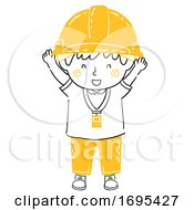 Kid Boy Engineer Happy Illustration