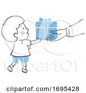 Kid Boy Gift Give Illustration