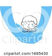 Poster, Art Print Of Kid Boy Held Sleeping Illustration