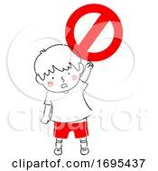 Kid Boy Safety Symbol No Illustration