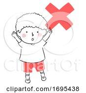 Poster, Art Print Of Kid Boy Safety Symbol Illustration