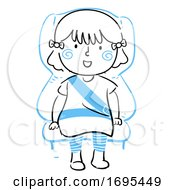 Kid Girl Safety Seat Belt Illustration