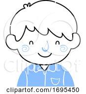 Kid Boy Hooked Nose Illustration