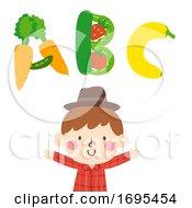 Kid Boy Farmer Illustration