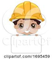 Poster, Art Print Of Kid Boy Black Engineer Name Tag Illustration