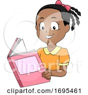 Kid Girl African Book Illustration