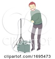 Man Area Air Sampling Illustration