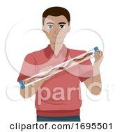 Man Snake Restraint Tube Illustration