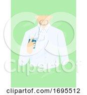 Man Fragrance Perfume Illustration