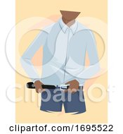 Man Wearing Belt Illustration