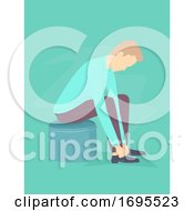 Man Wearing Black Shoes Illustration