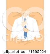Man Wearing Necktie Illustration