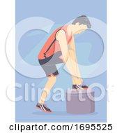 Poster, Art Print Of Man Wearing Sport Shoes Illustration