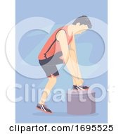 Man Wearing Sport Shoes Illustration