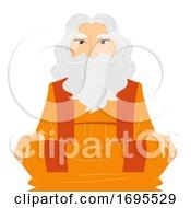 Senior Man Guru Illustration