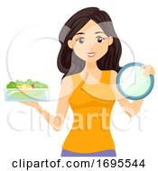 Teen Girl Food Clock Intermittent Fasting