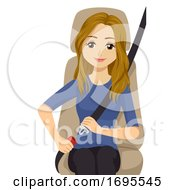 Teen Girl Safety Seat Belt Illustration