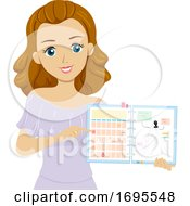 Teen Girl Wedding Planner Illustration