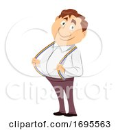 Rainbow Strap Joyful Person Metaphor Illustration
