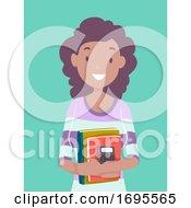 Teen Girl Black Accounting Student Illustration