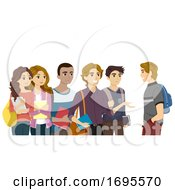 Teen Group Solidarity Illustration