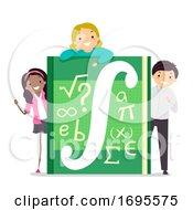 Poster, Art Print Of Teens Calculus Book Illustration