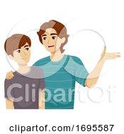 Teen Boy Adolescence Brother Advice Illustration