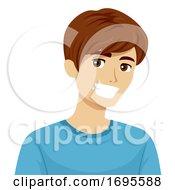 Teen Boy Healthy Teeth Illustration