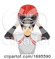 Teen Boy Wear Safety Sport Equipment Illustration