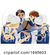 Teens Boys Sports Club Baseball Illustration
