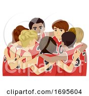 Poster, Art Print Of Teens Boys Sports Club Basketball Illustration
