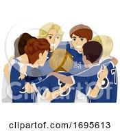 Teens Guys Sports Club Football Illustration