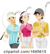 Teens Sports Club Golf Illustration