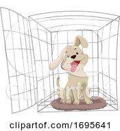 Poster, Art Print Of Dog Crate Training Illustration