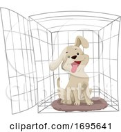 Dog Crate Training Illustration