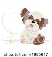 Dog Pet Pee Wall Male Illustration
