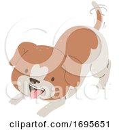 Dog Want Play Illustration