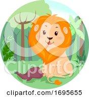 Lion Jungle Meat Illustration