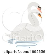 Swan Entwine Neck Courting Illustration