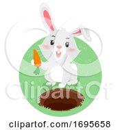 Rabbit Underground Carrot Illustration