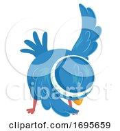 Poster, Art Print Of Bird Exercise Cross Body Toe Touch Illustration