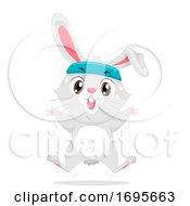 Rabbit Exercise Jumping Jack Illustration