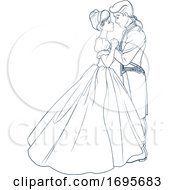 Black And White Cinderella Dancing With Her Prince