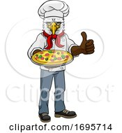 Eagle Pizza Chef Cartoon Restaurant Mascot